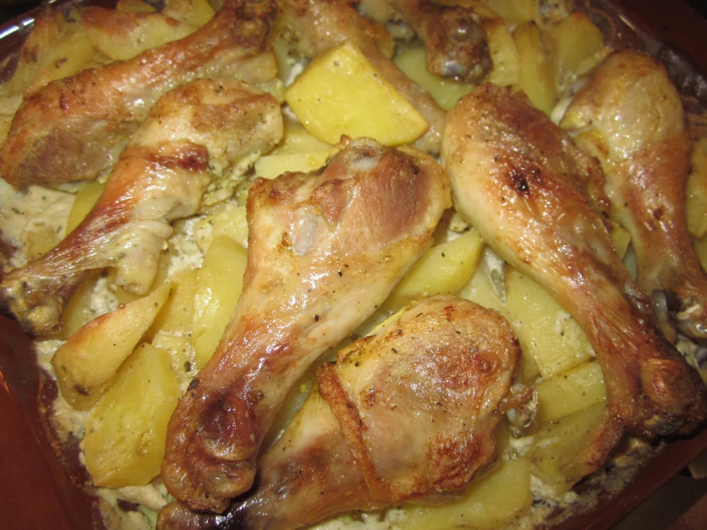 Рецепт с картошки и курицы
